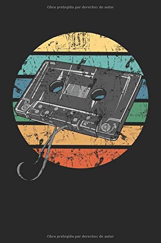 Casete retro: Aficionados a la música vintage de los años 80 tecnología musical regalos de ingeniero de sonido portátil forrado (formato A5, 15,24 x 22,86 cm, 120 páginas)