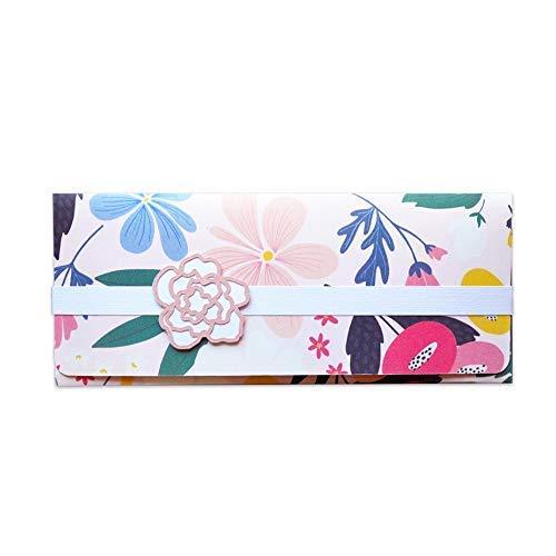 Tenedor de dinero - floreale - ceremonias - boda - sobre de bolsa de dinero (tamaño 22 x 9,5 cm) + tarjeta de felicitación - vacío por dentro, ideal para su mensaje personal - totalmente artesanal.