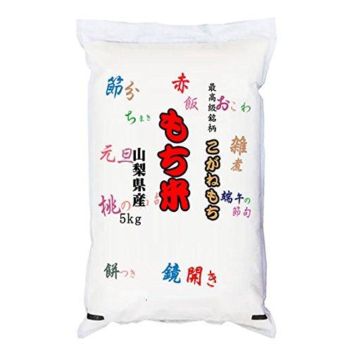【精米】山梨県産 無洗米(袋再利用) 白米 最高級もち米 こがねもち 5kgx4袋 令和元年産