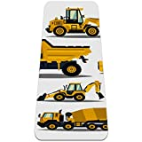 Yoga Mat - Cartoon digging machine - Extra Thick Non Slip Exercise & Fitness Mat for All Types of Yoga,Pilates & Floor Workouts