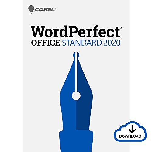 Corel WordPerfect Office 2020 Standard | Word Processor, Spreadsheets, Presentations | Newsletters, Labels, Envelopes, Reports, Fillable PDF Forms, eBooks [PC Download] [Old Version]