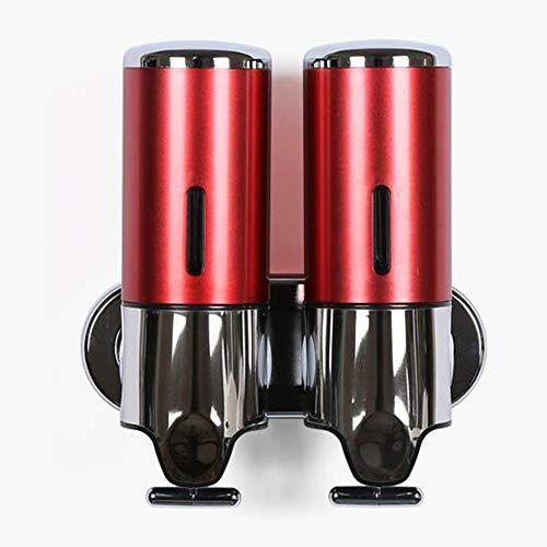 zaoyq Zeep Dispenser Handleiding 500ml * 2 Dubbelkops Wandmontage Hotel Badkamer Zeep Dispenser Hand Zeep Fles Badkamer Douche Vloeistof Box (Kleur : Rood, Wit, Champagne, Zilver)