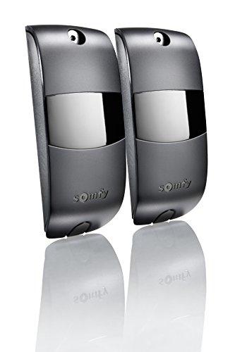 Somfy 2400939 - Lichtschranken-Set für Torantriebe, BUS 24V AC-DC Reichweite 8m IP44, schwarz