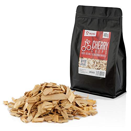 BBQ-Toro Kirsche Smoker Chips Kirsche Räucherchips | 400 gr | rauchintensive Smokerchips aus Kirschholz | Grillchips für Gasgrill, Smoker, BBQ (400)