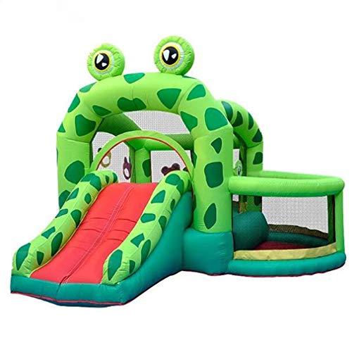 XDLH Frosch Rutsche, Aufblasbares Kinderspielzeuges Rutsche Trampolin, PVC-Clip Nettotuch, 3 * 3.3 * 2.35M, Super Große Kinderrutsche