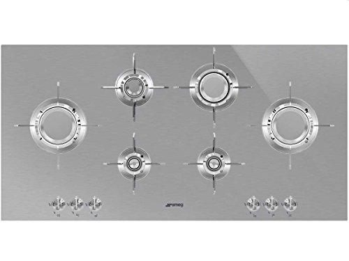Smeg PXL6106 plaque Acier inoxydable Intégré Gaz - Plaques (Acier inoxydable, Intégré, Gaz, Acier inoxydable, 1000 W, Rond)