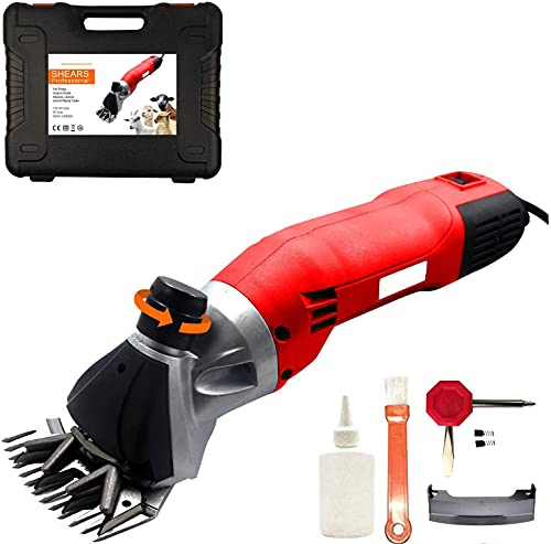 500W Professional Heavy Duty Electric Sheep Shearers Clippers with 6 Speed...
