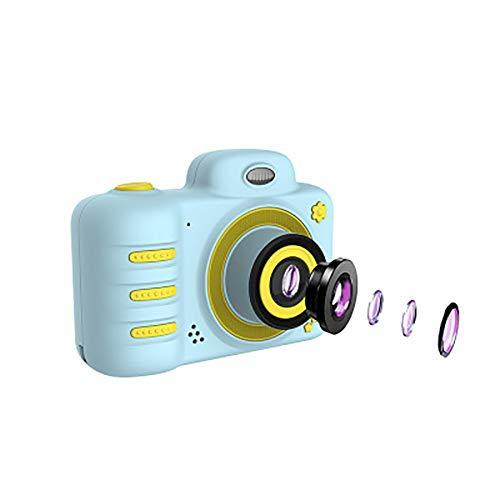 1080p HD digitale camera voor kinderen met dubbele kop-spiegelreflexcamera, zaklampen, kindercamera's, grote 2,4 inch TPS, jongens en meisjes van 3 tot 9 jaar