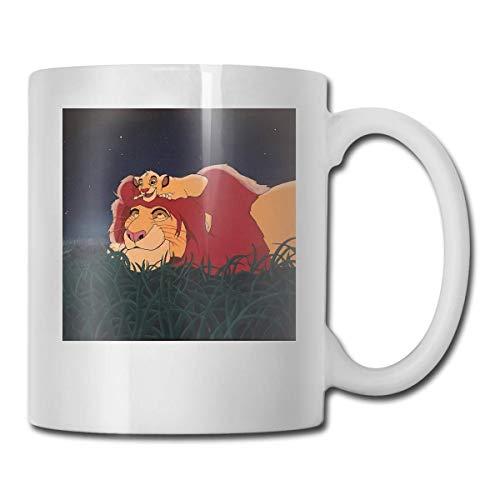 haoqianyanbaihuodian Il Rey León - Tazas de cerámica con diseño de Mufasa y Simba - Código 330 ml