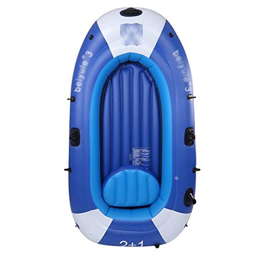 ZXQZ Kayak Kayac, Barco de Pesca Inflable para Adultos, Canoas Inflables para 3 Personas con Bomba de Remos, Balsas de Agua para Lago, Piscina