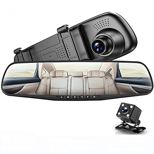 Cámara Dvr Para Coche Full HD 1080P Auto 4,3 Pulgadas Espejo Retrovisor Grabador De Vídeo Digital Videocámara De Registro De Doble Lente
