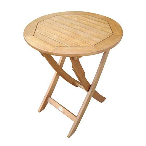 SEDEX Caprice Klapptisch 60 cm rund für Garten, Terrasse und Balkon FSC® 100% Eukalyptusholz geölt