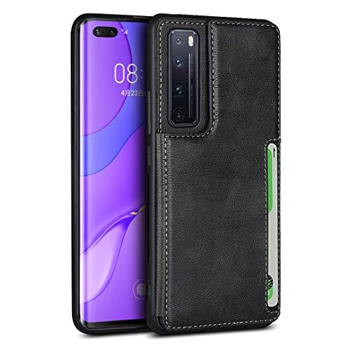 Étui Portefeuille Pour Huawei Nova 7 Pro (Noir)