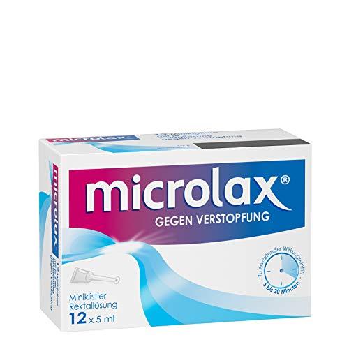 Microlax - Schnelles und sehr gut verträgliches Abführmittel bei Verstopfung – für Kinder und Erwachsene - 12 x 5ml