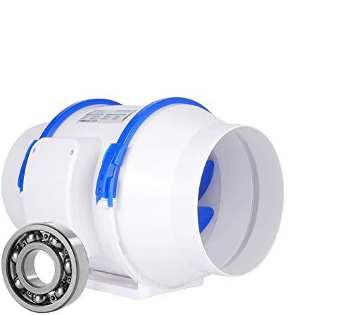Abluftventilator,HG Power Rohrventilator Mischdurchfluss Rohrlüfter mit Starker Abluft System für Büro, Bad, Halle, Hydroponic Zimmer (⌀150 mm) - MEHRWEG