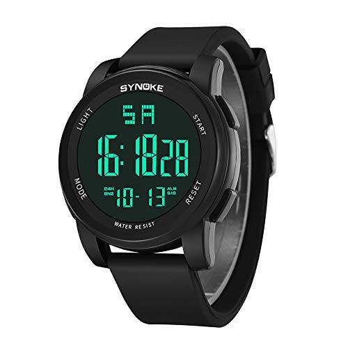 NEEKY Sportuhren Herren Fitness Fitness Armband Stoppuhren Sportelektronik SchrittzäHler Smartwatch - Herren sportuhr LED Digital Dual Movement-Uhr