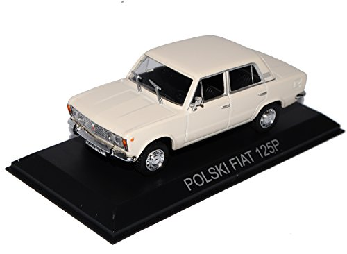 Unbekannt Polski FIAT 125P Limousine Beige Weiss 1/43 Modellcarsonline Modell Auto