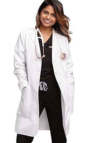 FIGS Women's Aurora Premium Lab Coat, White XS