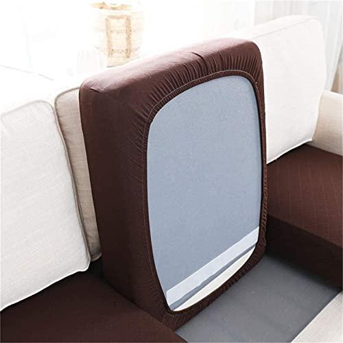 ZGDDPZA - Federa per cuscino per divano e divano, in tessuto jacquard elasticizzato, lavabile in lavatrice, per cuscini singoli (Oversize 2 posti, marrone scuro)