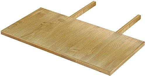 Brasilmöbel Ansteckplatte 50x100 Brasil Rio Classiko oder Rio Kanto - Pinie Massivholz Echtholz - Größe & Farbe wählbar - für Esstisch Tischverlängerung Holztisch Tisch Erweiterung ausziehbar
