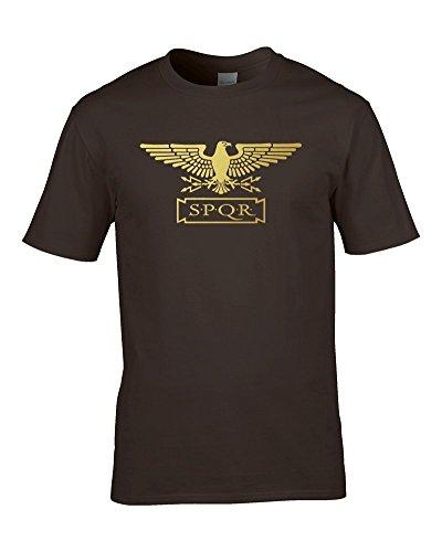 Ice-Tees Standard SPQR - Camiseta de Manga Corta para niño con diseño de águila Romana, Color Dorado metálico