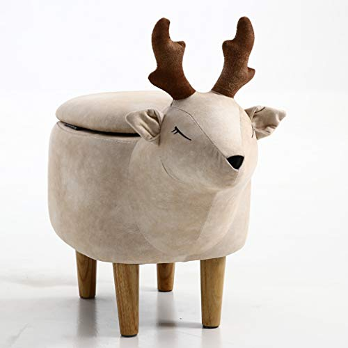 CJH Creatieve mode schattige dierenkruk Home Deer Moderne minimalistische schoenenbank kruk opslag kruk