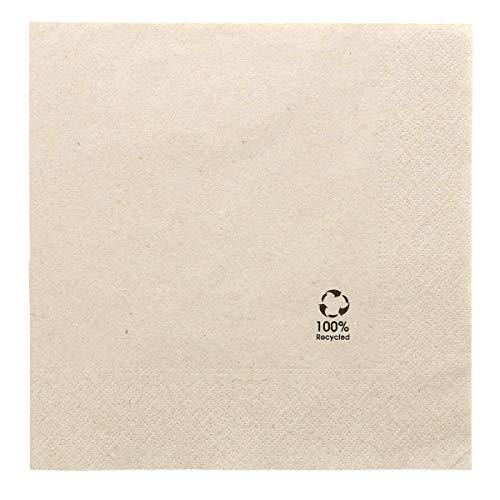 García de Pou servilletas, Papel Reciclado, Natural, 30 x 30 x 30 cm, 100