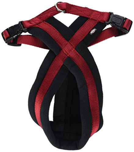 Trixie Premium Harness mit Fleecepolsterung, M: 45–80 cm / 25 mm, rot