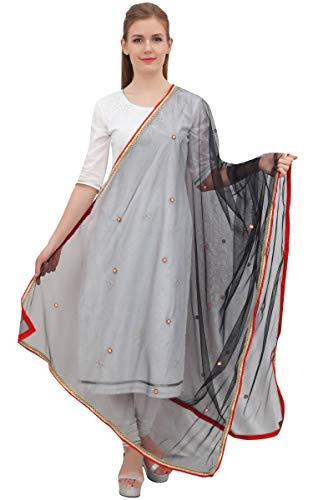 Phagun neto Dupatta larga bufanda de la estola Mujeres étnico Wrap Hizab regalo para ella
