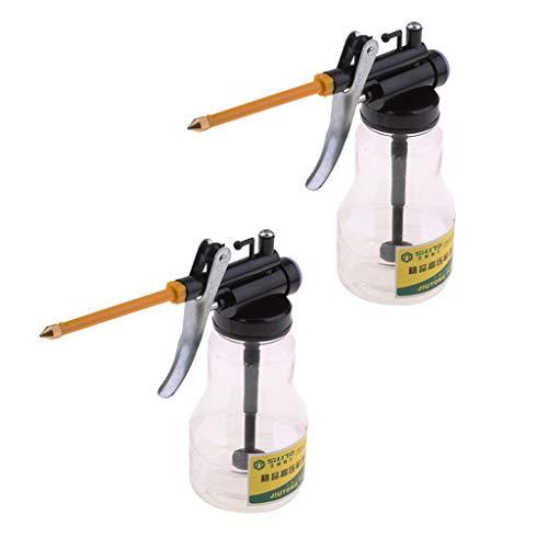 Baoblaze 2 Stück Hochdruck Handpumpen Öltopf Kann Pistolenschlauch Für Schmiermittel Sprühen