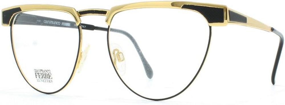 Gianfranco ferre`, montatura occhiali da vista per donna, nero black gold 87