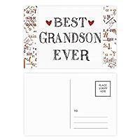 これまでに最高の孫引用の親類 公式ポストカードセットサンクスカード郵送側20個