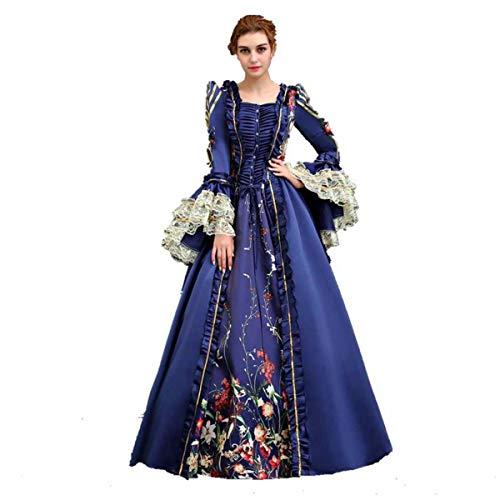 KEMAO - Disfraz de Rococo Victoriano para Mujer (X-Small:Altura 61/63' Pecho 32/33' Cintura 24/25', Azul)