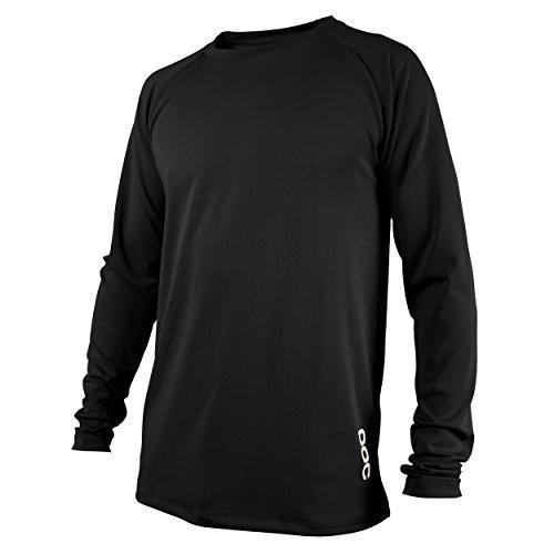 POC Herren Resistance DH LS Jersey, Schwarz (Carbon black), L