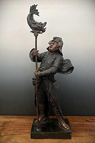 Samurai Krieger Bronze Statue Japan Skulptur 74cm groß Asien Lifestyle