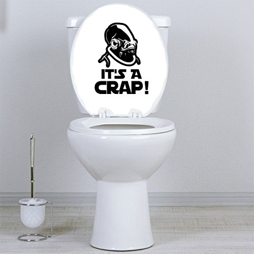 Its a Crap Admiral Ackbar Parody Toilet Bowl Vinyl Decal Sticker
