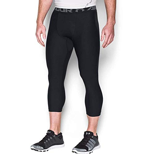 Under Armour Heatgear 2.0 3/4 Leggings pantalón Largo, Hombre, Negro (Black/Graphite), M