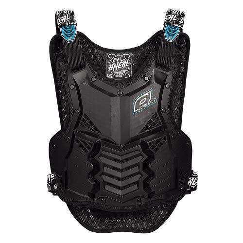 O\'NEAL | Motorrad-Protektorweste | Enduro Motocross Downhill | Kunststoff-Spritzguss, Schutz am Bauch & des unteren Rückens | Holeshot Roost Guard Short | Erwachsene | Schwarz Blau | Einheitsgröße