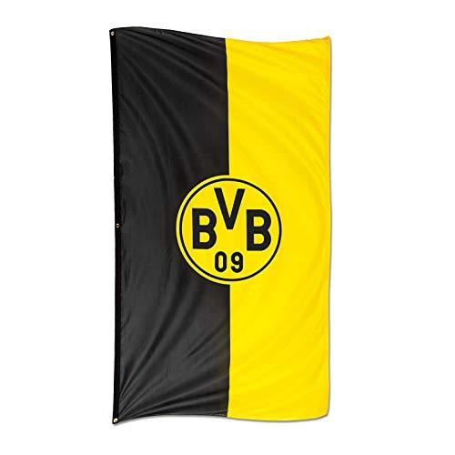 Borussia Dortmund BVB 34134400 Hissfahne im Hochformat, Schwarz/Gelb, 100 x 200 x 1 cm