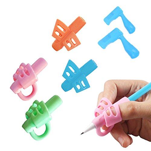 Impugnature Matita, Yuccer 6 Pack Ergonomico Matita Grip Aiuto Scrittura Strumento Correzione Della Postura per Bambini Adulti Necessità Speciali