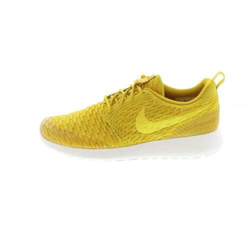 Nike Women's Wmns Roshe One Flyknit Sneakers Golden Size: 4 UK