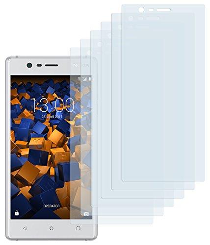 mumbi Schutzfolie kompatibel mit Nokia 3 Folie klar, Displayschutzfolie (6X)