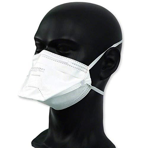 FFP2 Maske ohne Ventil ◆ Atemschutzmaske Staubmaske Mundschutzmaske ◆ CE 2163 EN149 zertifiziert ◆ 10 Stück - 2