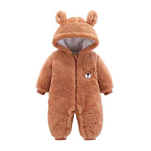 NHNX Kinder Baby Teddy Fleece Strampler Winter Warm Bademantel Mit Bärenohren Kapuzen Jungen Mädchen Unisex Overall