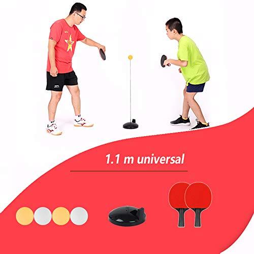 Mesa de Ping Pong Trainer, Práctica del Robot portátil de Ping-Pong Trainer con elásticos Suaves del Eje 2 Raquetas y 4 Bolas del Ping-Pong,Adult