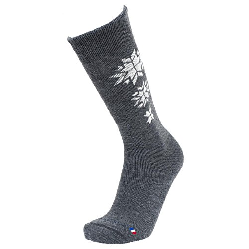 SD Best selection - Etoile MB Anth Ski - Chaussettes de Ski - Gris Anthracite chiné - Taille 41-42