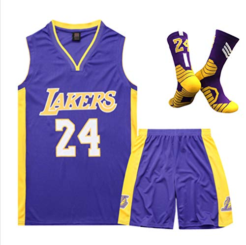 Balón bordado, ropa baloncesto, 24 Lakers Fan ropa