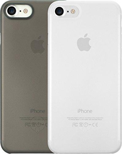 Ozaki O!Coat 0.3 Jelly Slim 2 in 1 Schutzhüllen Set für Apple iPhone SE (2020) / 7 / 8 [Schwarzes und transparentes Cover | 0.3mm dünn | 4g leicht | Extrem passgenau | Transparent] - OC720CK