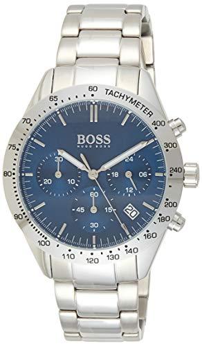 Hugo Boss Mixte Chronographe Quartz Montre avec Bracelet en Acier Inoxydable 1513582