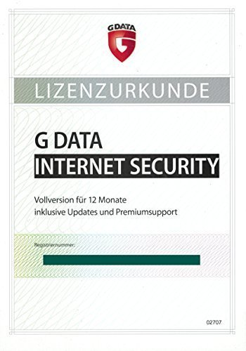 G Data Internet Security 1PC PKC (Gültig für 2017/2018)